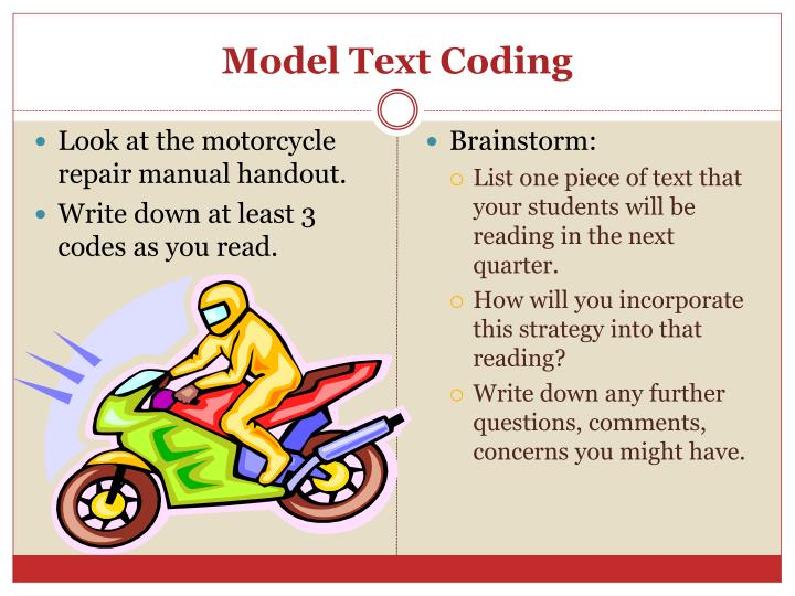 Model Text Coding