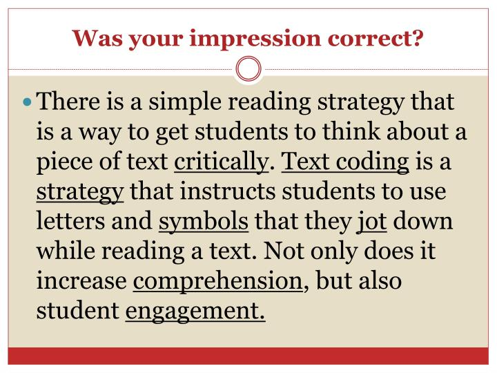 Was your impression correct?