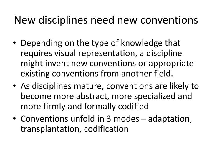 New disciplines need new conventions