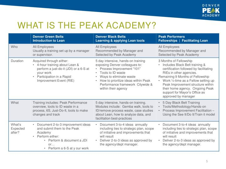 What is the Peak Academy?