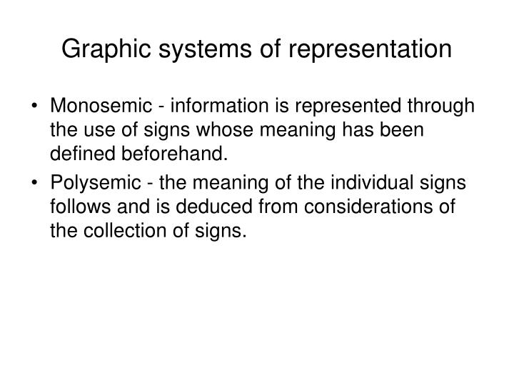 Graphic systems of representation