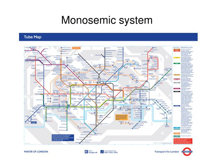 Monosemic system