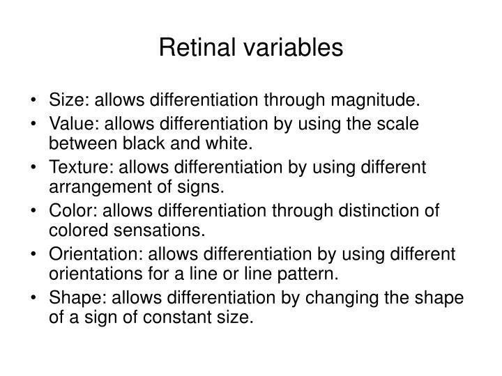 Retinal variables