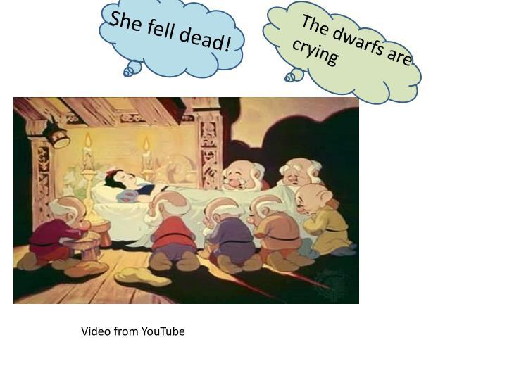 She fell dead!