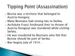 tipping point assassination