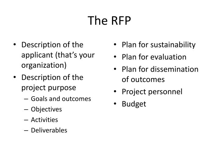 The RFP