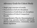 advocacy goals for cohort study