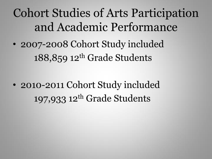 Cohort Studies of Arts Participation and Academic Performance