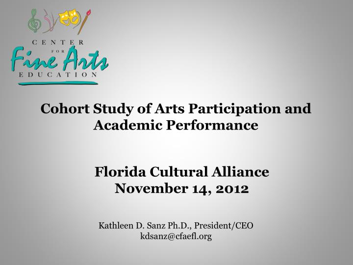Cohort Study of Arts Participation and