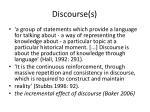 discourse s