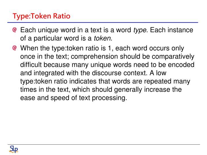Type:Token