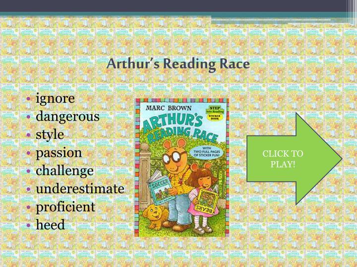 Arthur's Reading Race