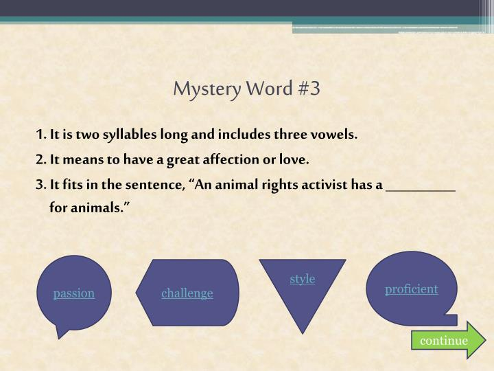 Mystery Word #3