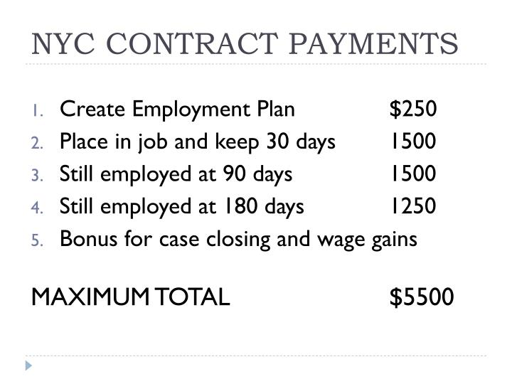 NYC CONTRACT PAYMENTS
