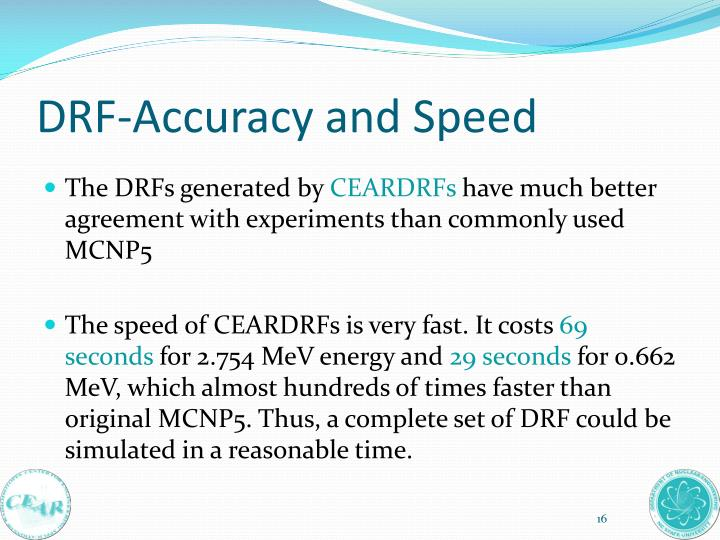 DRF-Accuracy and Speed