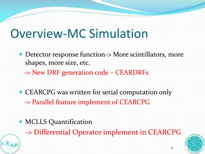 Overview-MC Simulation