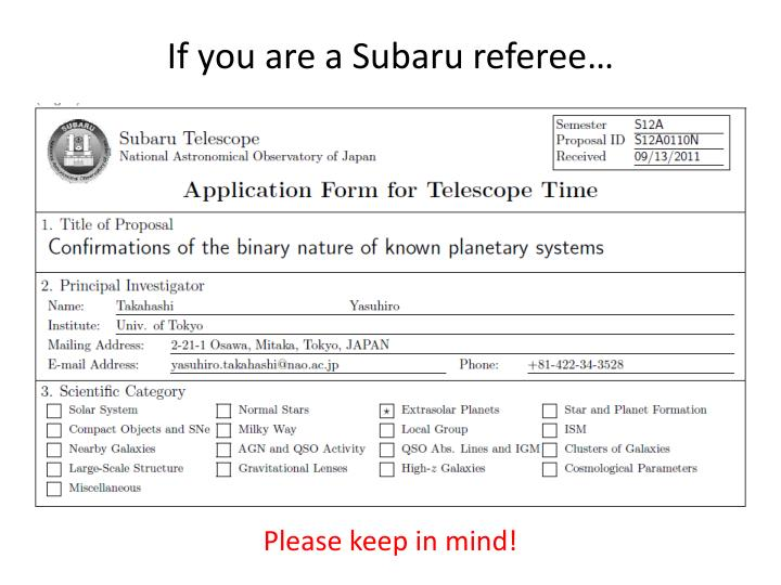 If you are a Subaru referee…