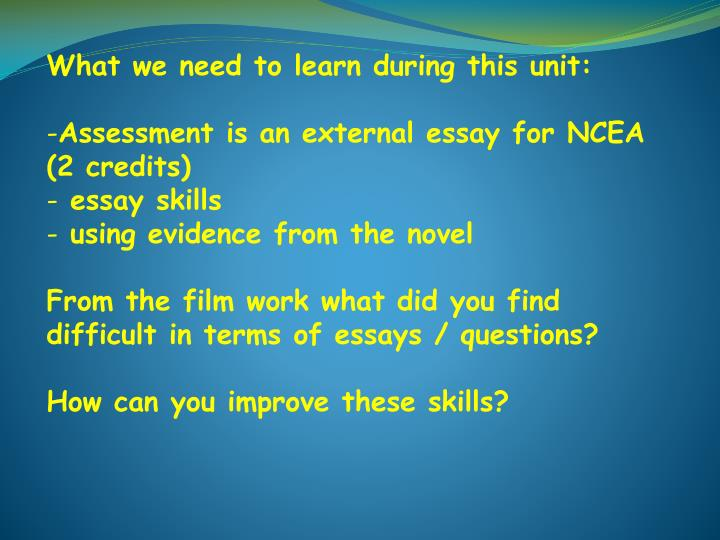 ncea essays High school essays are far different to university ones when you get to uni you'll have to learn a whole new style again and referencing source(s): did ncea and graduated from university in new zealand.