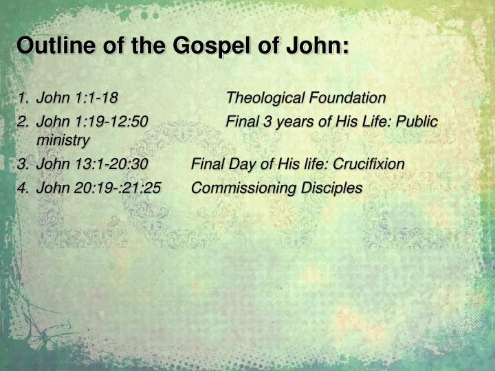 Outline of the Gospel of John: