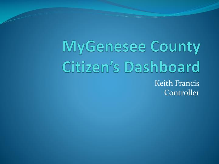 Mygenesee county citizen s dashboard