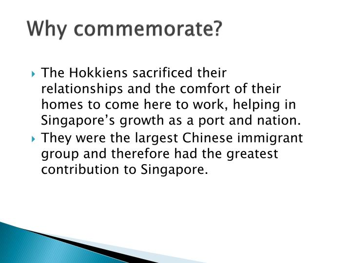 Why commemorate?