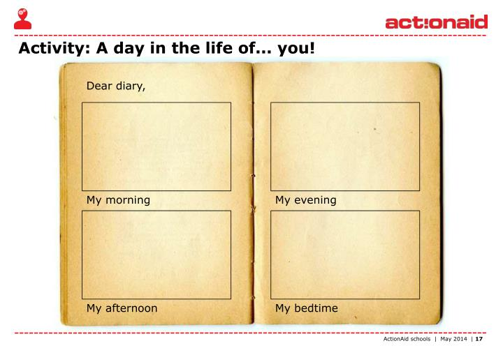 Activity: A day in the life of... you!