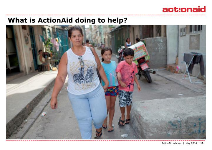 What is ActionAid doing to help?