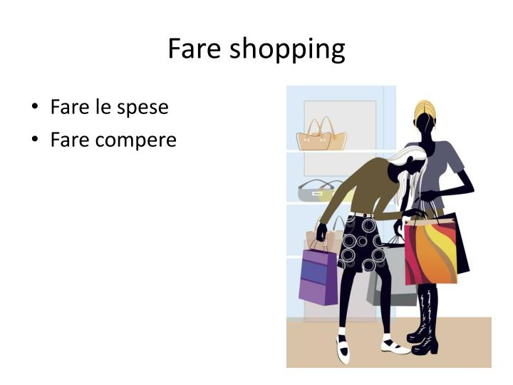 Fare shopping