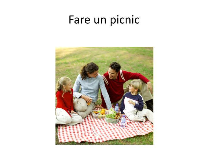 Fare un picnic