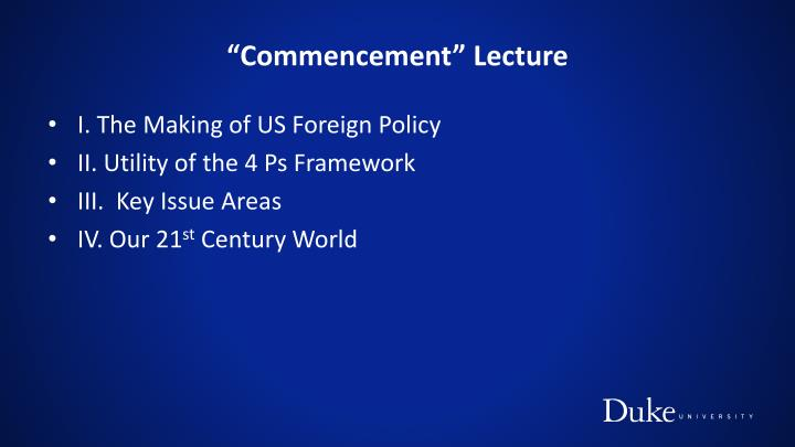 Commencement lecture