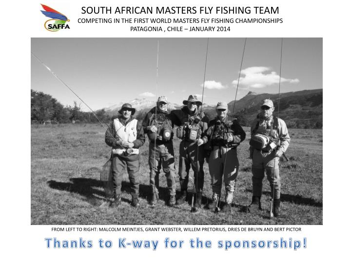 SOUTH AFRICAN MASTERS FLY FISHING TEAM