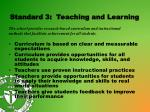 standard 3 teaching and learning