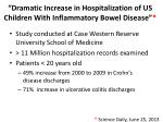 dramatic increase in hospitalization of us children with inflammatory bowel disease