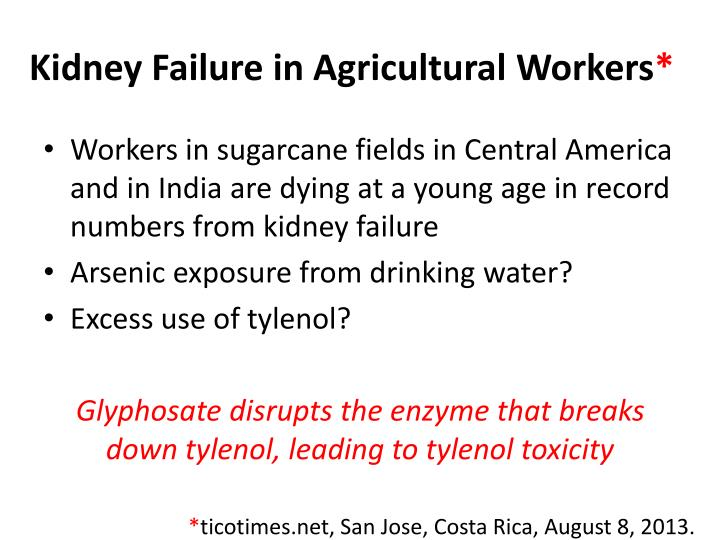 Kidney Failure in Agricultural Workers