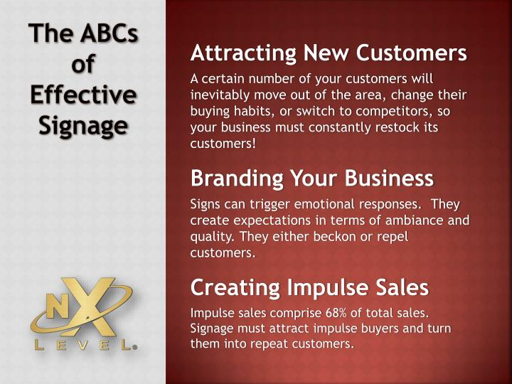 The abcs of effective signage