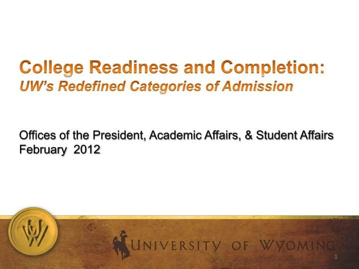 College Readiness and Completion: