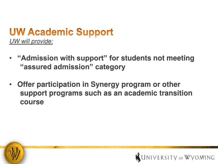 UW Academic Support