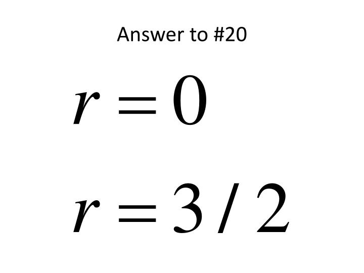 Answer to #20