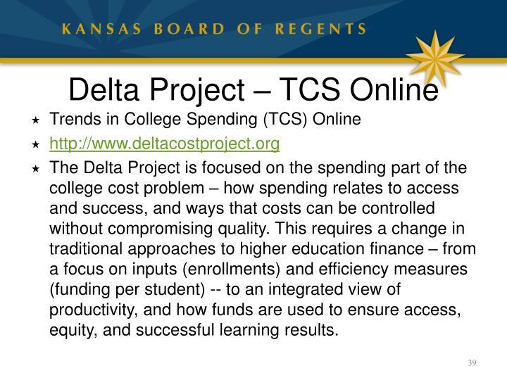Delta Project – TCS Online