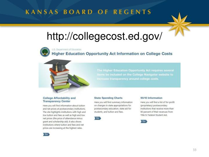 http://collegecost.ed.gov/