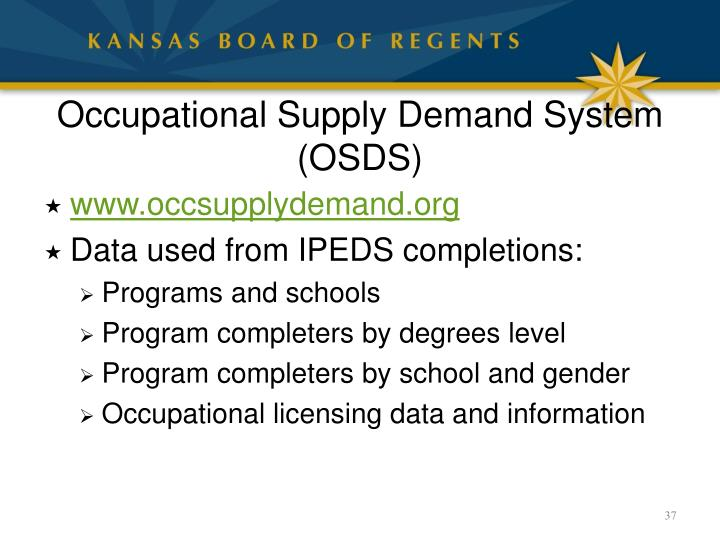 Occupational Supply Demand System (OSDS)