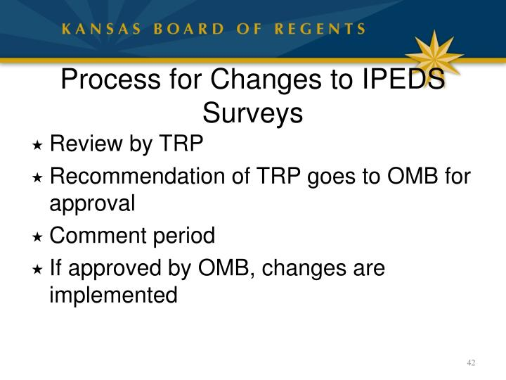 Process for Changes to IPEDS Surveys