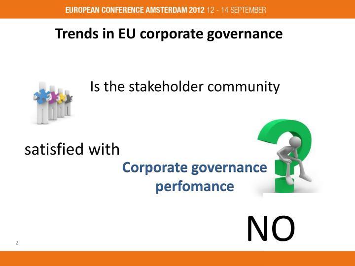 Trends in EU corporate governance