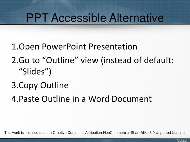 PPT Accessible Alternative