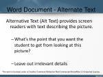 word document alternate text