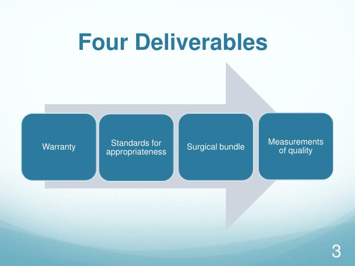 Four Deliverables