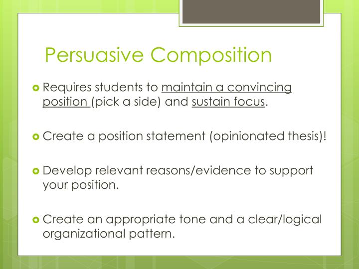 Persuasive Composition