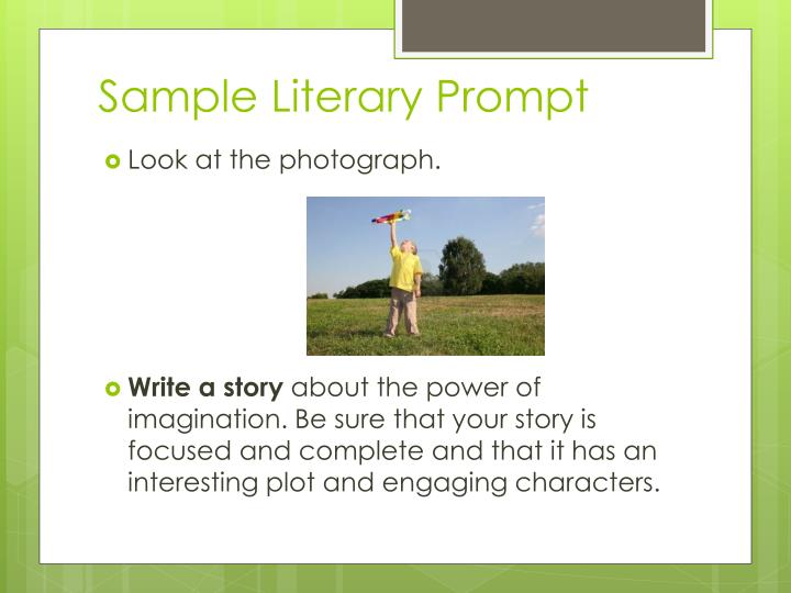 Sample literary prompt