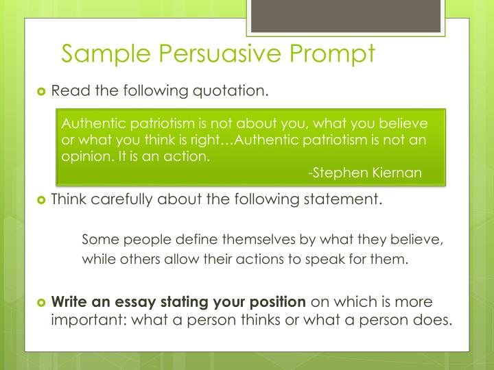Sample Persuasive Prompt