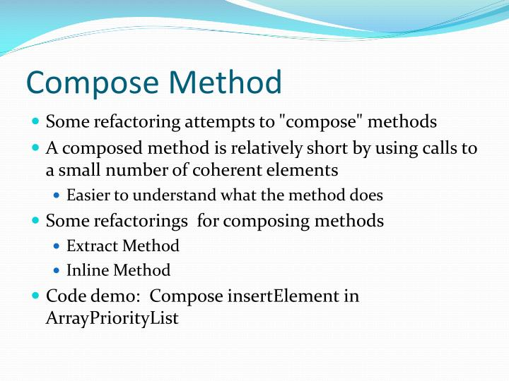 Compose Method